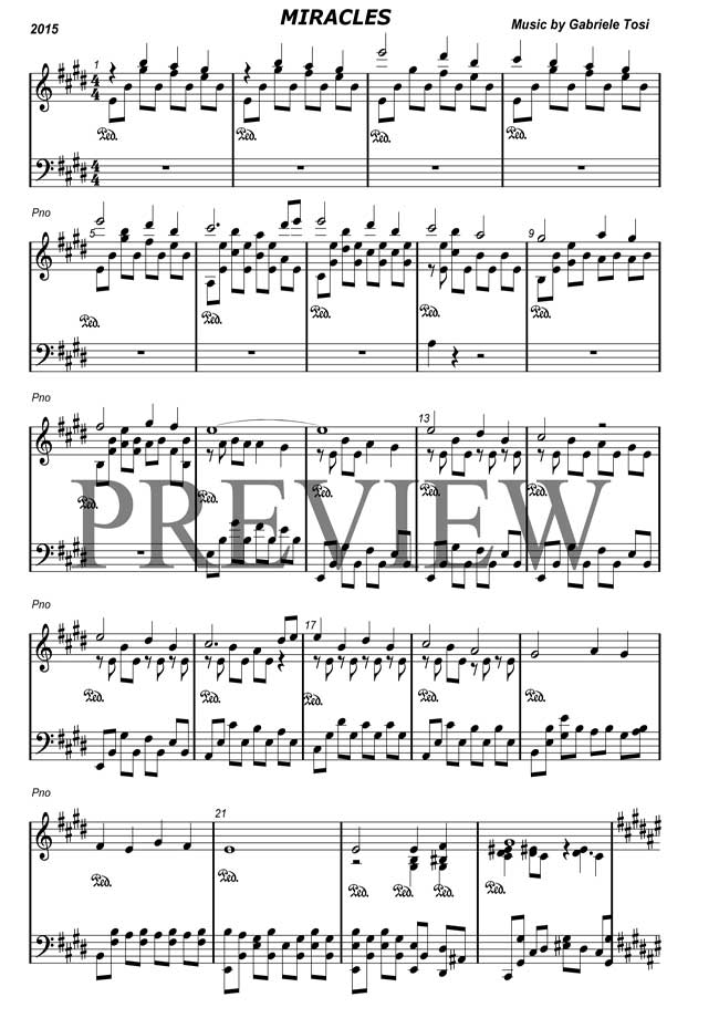 Piano piano sheet music for popular songs : Popular piano sheet music by Gabriele Tosi: modern and beautiful ...